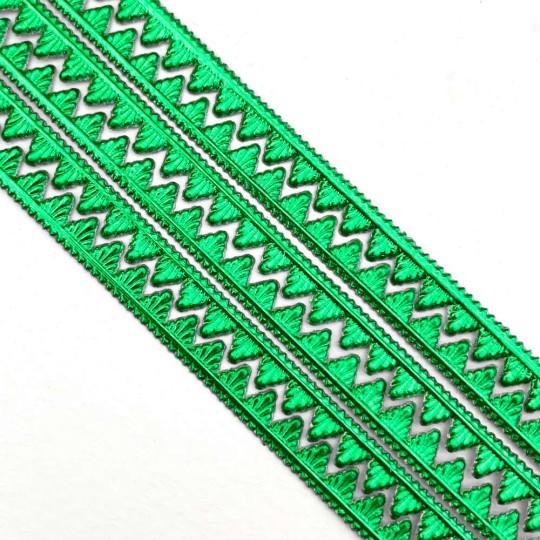 "Green Petite Pennant Dresden Foil Trim ~ 1/8"""