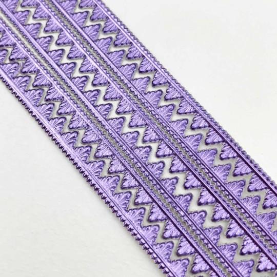 "Light Purple Petite Pennant Dresden Paper Trim ~ 1/8"""
