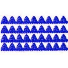 """Dark Blue Dresden Pennant Point Trim ~ 1/4"""" wide"""