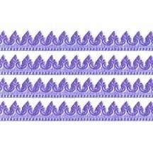 """Light Purple Extra Fancy Dresden Baroque Trim ~ 3/8"""" wide ~ 6 strips"""