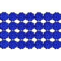 """Dark Blue Dresden Flower Trim ~ 1/4"""" wide"""