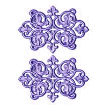 Light Purple Dresden Foil Ornate Flourishes ~ 6