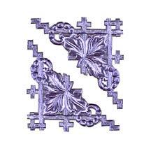 Light Purple Dresden Foil Fancy Corners ~ 20