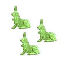 Petite Light Green Dresden Foil Easter Bunnies ~ 18