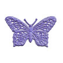 Light Purple Dresden Foil Butterflies ~ 6