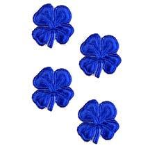 Small Dark Blue Dresden Foil Shamrocks ~ 40