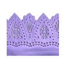 "Light Purple Dresden Flourish and Scallop Wide Trim ~ 1-5/8"" wide"
