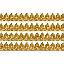 "Antique Gold Extra Fancy Dresden Baroque Trim ~ 3/8"" wide ~ 6 strips"