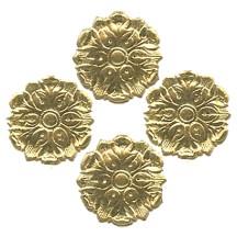 Gold Dresden Foil Medallions ~ 24