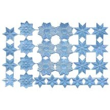 Light Blue Dresden Foil Stars & Halos ~ 26 Assorted