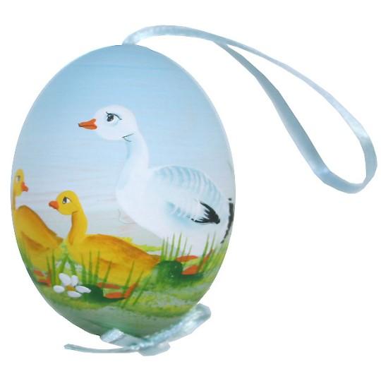 Springtime Goose Eastern European Egg Ornament ~ Handmade in Slovakia