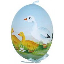Springtime Goose Eastern European Egg Ornament ~ Handmade in Slovakia