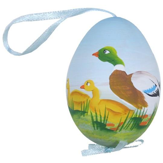 Springtime Ducks Eastern European Egg Ornament ~ Handmade in Slovakia