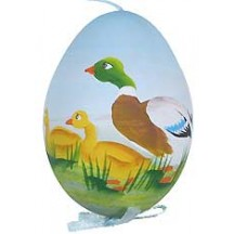 Springtime Ducks Eastern European Egg Ornament ~ Handmade in Slovakia