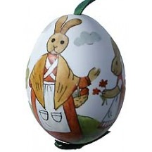 Bunny Village Eastern European Egg Ornament ~ Handmade in Slovakia