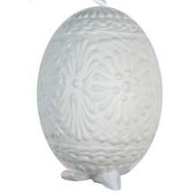 White on White Eastern European Egg Ornament ~ Handmade in Slovakia