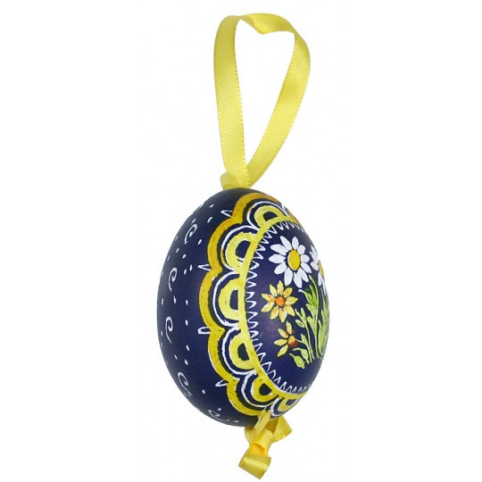 Mixed Daisies Eastern European Egg Ornament ~ Handmade in Slovakia