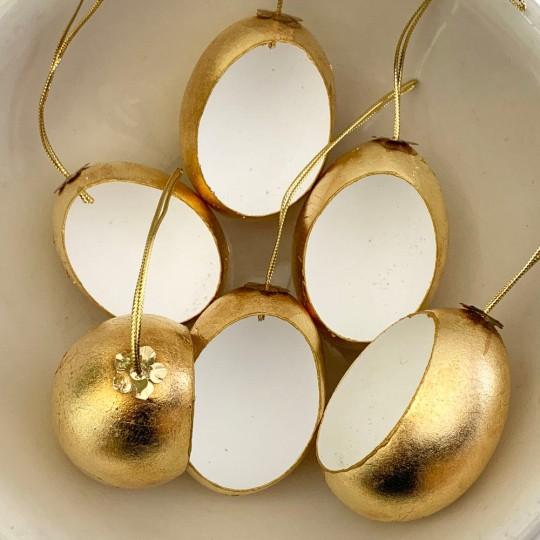 DIY Golden Diorama Egg Ornament ~ Handmade in Slovakia ~ 1 egg