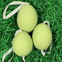 Green Blank Easter Egg Ornament ~ Handmade in Slovakia ~ 1 egg