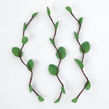 "3 Green Small Leaf Twigs ~ 4-1/2"" Long"