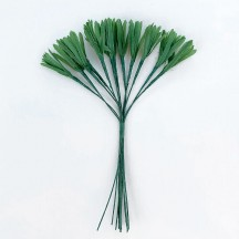"12 Small Green Carrot Tops or Grass Blades ~ 1"" Long"