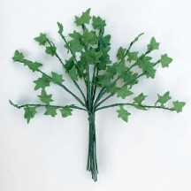 "12 Green Mini Ivy Branches ~ 5"" Long"