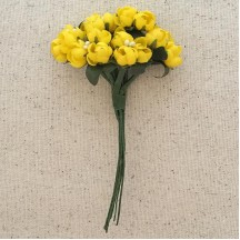 Bundle of Yellow Fabric Flower Buds ~ Austria ~ 3/8""