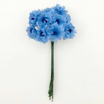 12 Light Blue Cornflower Blossoms or Bachelor Buttons ~ 3/4""