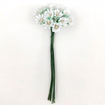 12 Tiny White Paper Daisies ~ 3/8""