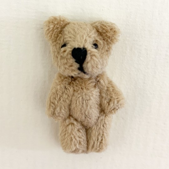 "2 Miniature Teddy Bears ~ 1-1/2"" tall"