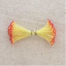 Yellow and Red Vintage Flower Stamen Tips ~ Germany