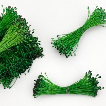 Green and Black Tip Flower Stamen Pips for Flower Crafting