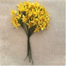 Spray of  Yellow Fabric Narcissus ~ Vintage Germany ~ Old Store Stock