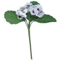 Handmade Fabric Pansies Cluster in White