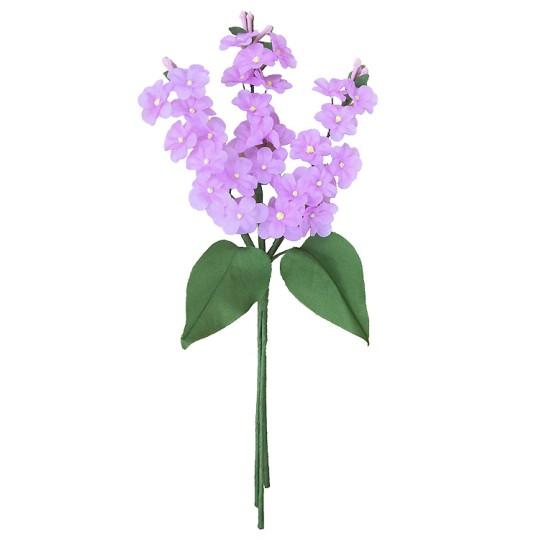 Spray of Lavender Fabric Lilacs ~ Czech Republic