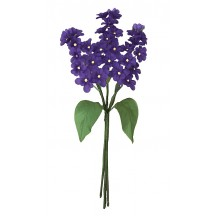Spray of Dark Purple Fabric Lilacs ~ Czech Republic