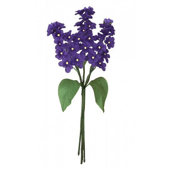 Spray of Dark Purple Fabric Lilacs ~ Czech Republic