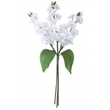 Spray of White Fabric Lilacs ~ Czech Republic