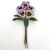 Spray of Small Velvet Pansies ~ Czech Republic ~ Light Purple