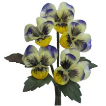 Spray of Yellow Ombre Velvet Pansies ~ Czech Republic