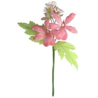 Spray Mixed Fabric Flowers in Pale Pink ~ Czech Republic