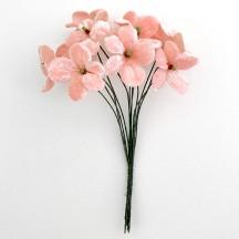 Bouquet of 12 Light PInk Velvet Forget Me Nots ~ Czech Republic