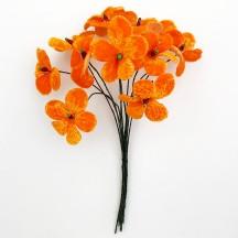 Bouquet of 12 Orange Velvet Forget Me Nots ~ Czech Republic