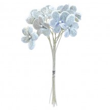 Bouquet of 12 Bluish Grey Velvet Forget Me Nots ~ Czech Republic