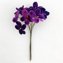 Bouquet of 12 Royal Purple Velvet Forget Me Nots ~ Czech Republic