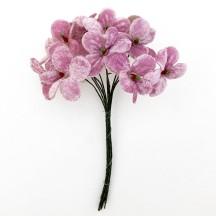 Bouquet of 12 Light Purple Velvet Forget Me Nots ~ Czech Republic