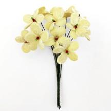 Bouquet of 12 Light Yellow Velvet Forget Me Nots ~ Czech Republic