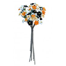 Bundle of Petite Mixed Velvet Forget me Nots ~ Czech Republic ~ White, Orange, Black, Apricot