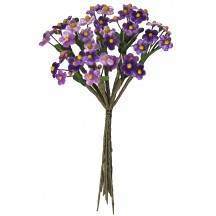 Mixed Bundle of Petite Purple and Light Purple Velvet Forget me Nots ~ Czech Republic