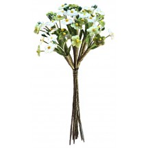 Mixed Bundle of Petite Velvet Forget me Nots ~ Czech Republic ~ Green and White